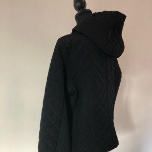 Calvin Klein hooded fleece lined coat.